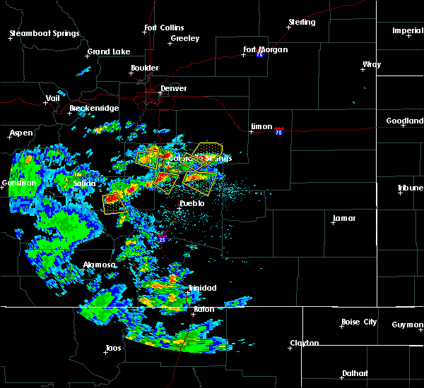 Radar Image for Severe Thunderstorms near Colorado Springs, CO at 7/15/2020 2:45 PM MDT
