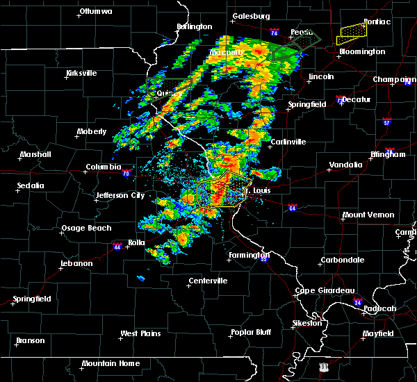 Radar Image for Severe Thunderstorms near Berkeley, MO at 7/15/2020 4:10 PM CDT