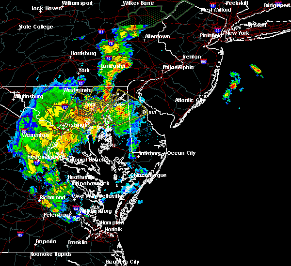 Radar Image for Severe Thunderstorms near Riverside, MD at 7/1/2015 1:40 AM EDT