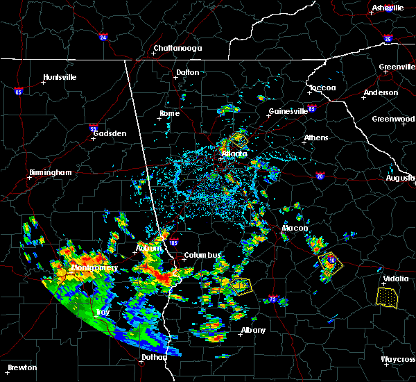 Radar Image for Severe Thunderstorms near Atlanta, GA at 7/15/2020 5:17 PM EDT