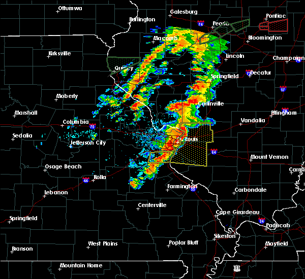 Radar Image for Severe Thunderstorms near Mitchell, IL at 7/15/2020 4:33 PM CDT