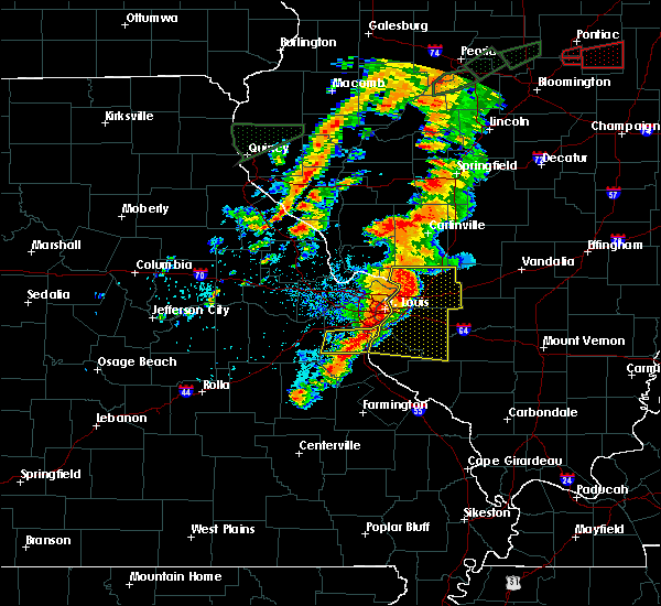 Radar Image for Severe Thunderstorms near Mitchell, IL at 7/15/2020 4:44 PM CDT
