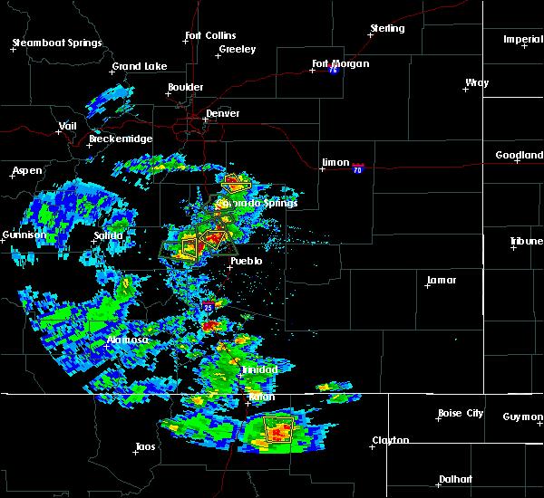 Radar Image for Severe Thunderstorms near Capulin, NM at 7/15/2020 3:44 PM MDT
