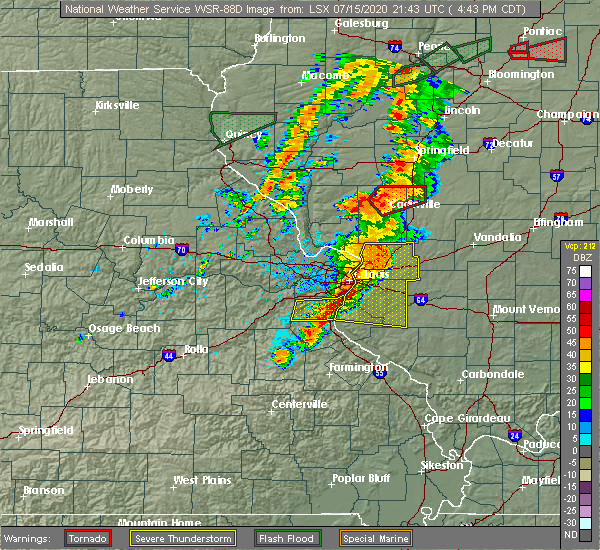 Radar Image for Severe Thunderstorms near Old Ripley, IL at 7/15/2020 4:51 PM CDT
