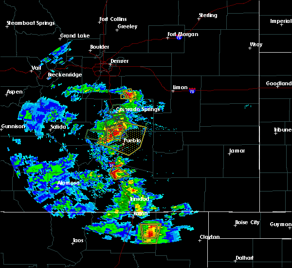 Radar Image for Severe Thunderstorms near Capulin, NM at 7/15/2020 4:00 PM MDT