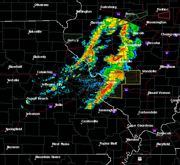 Radar Image for Severe Thunderstorms near Fairmont City, IL at 7/15/2020 5:01 PM CDT