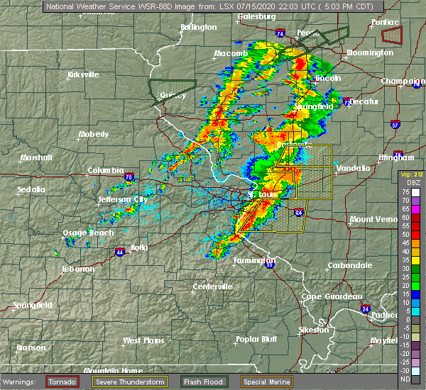 Radar Image for Severe Thunderstorms near Old Ripley, IL at 7/15/2020 5:11 PM CDT