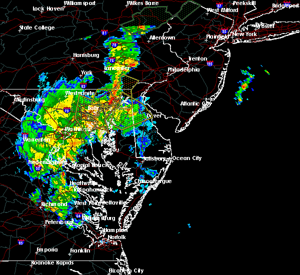 Radar Image for Severe Thunderstorms near Riverside, MD at 7/1/2015 1:49 AM EDT