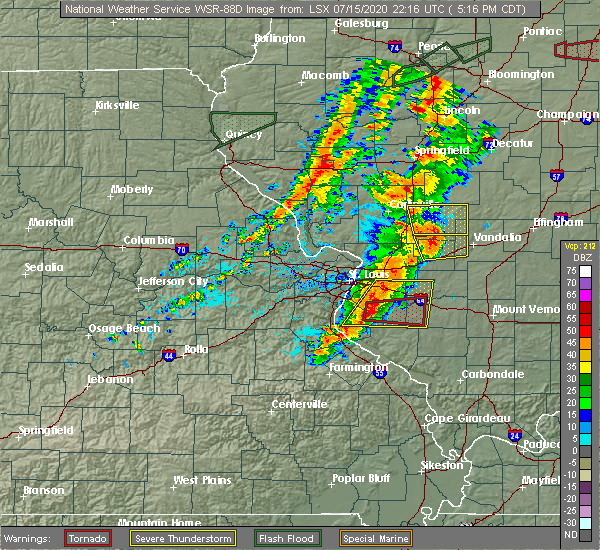 Radar Image for Severe Thunderstorms near Grantfork, IL at 7/15/2020 5:23 PM CDT