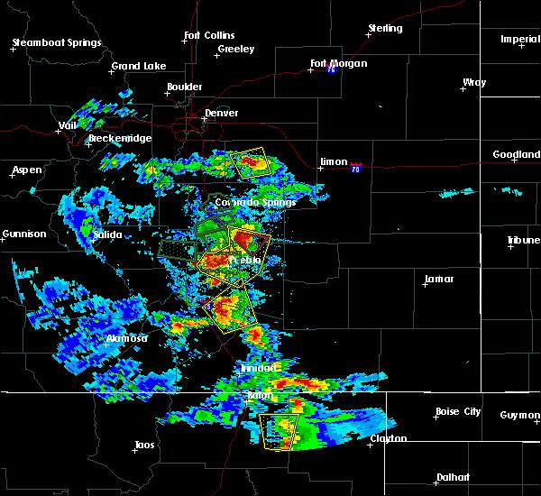 Radar Image for Severe Thunderstorms near Capulin, NM at 7/15/2020 4:24 PM MDT