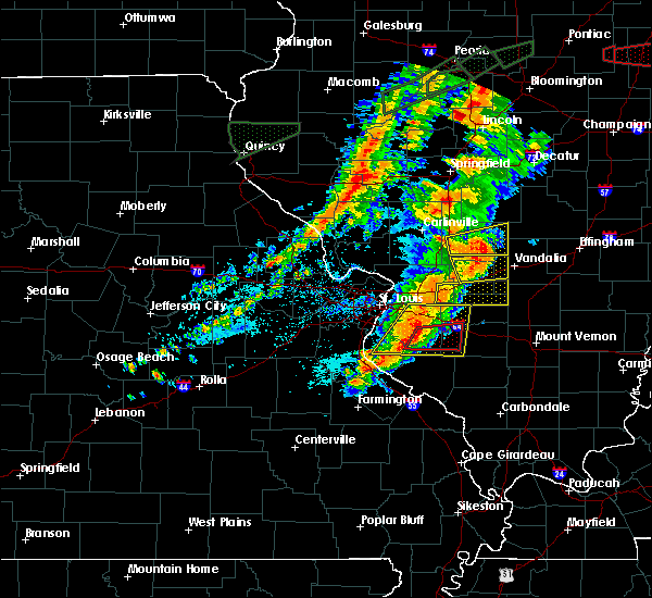 Radar Image for Severe Thunderstorms near Venedy, IL at 7/15/2020 5:31 PM CDT