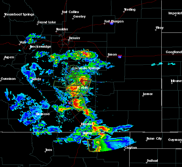 Radar Image for Severe Thunderstorms near Pueblo West, CO at 7/15/2020 4:32 PM MDT