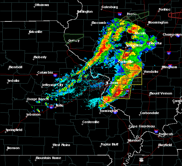 Radar Image for Severe Thunderstorms near Percy, IL at 7/15/2020 5:38 PM CDT