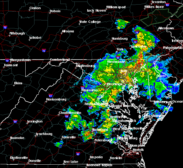 Radar Image for Severe Thunderstorms near Bowleys Quarters, MD at 7/1/2015 1:55 AM EDT