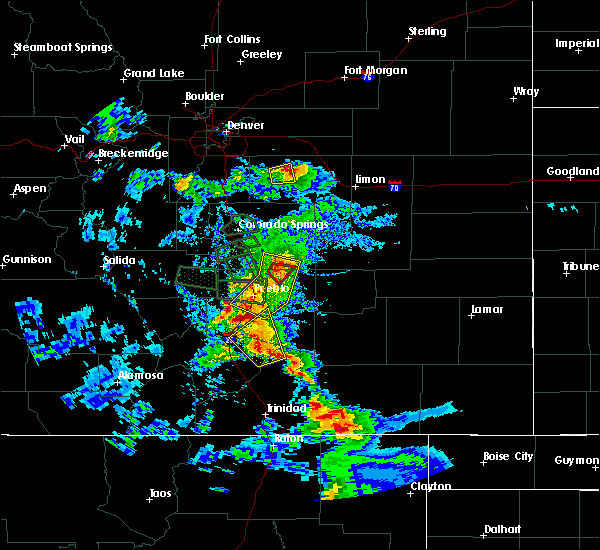 Radar Image for Severe Thunderstorms near Pueblo, CO at 7/15/2020 4:44 PM MDT