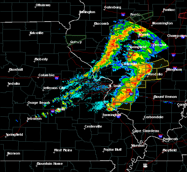 Radar Image for Severe Thunderstorms near Hoyleton, IL at 7/15/2020 5:46 PM CDT