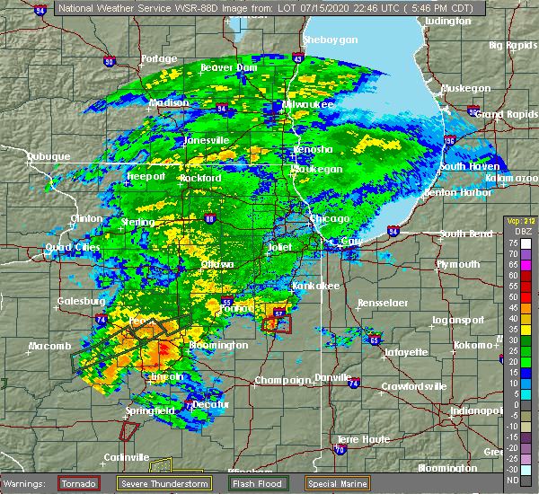 Radar Image for Severe Thunderstorms near Gilman, IL at 7/15/2020 5:47 PM CDT