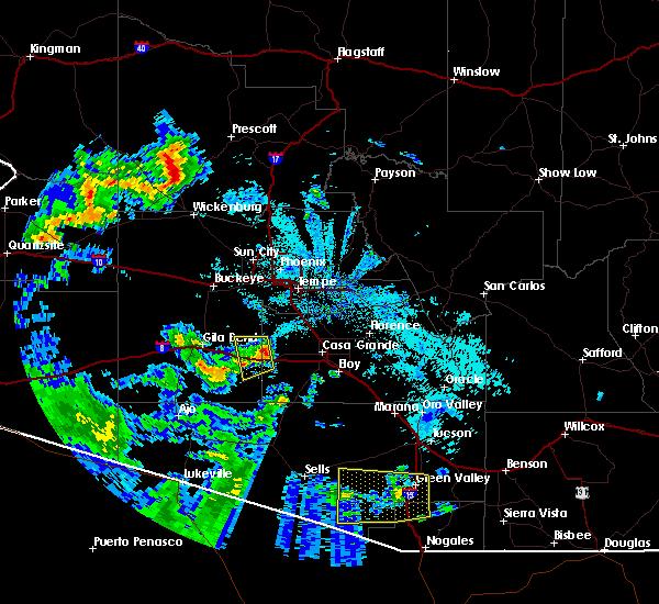 Radar Image for Severe Thunderstorms near Goodyear, AZ at 6/30/2015 11:01 PM MST