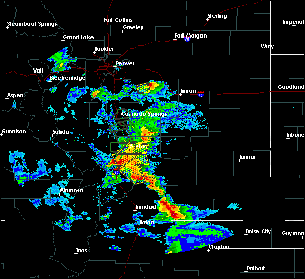 Radar Image for Severe Thunderstorms near Pueblo, CO at 7/15/2020 4:59 PM MDT