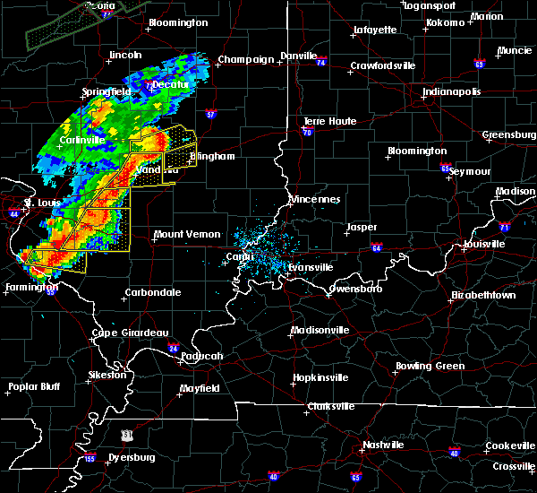 Radar Image for Severe Thunderstorms near Sandoval, IL at 7/15/2020 6:04 PM CDT
