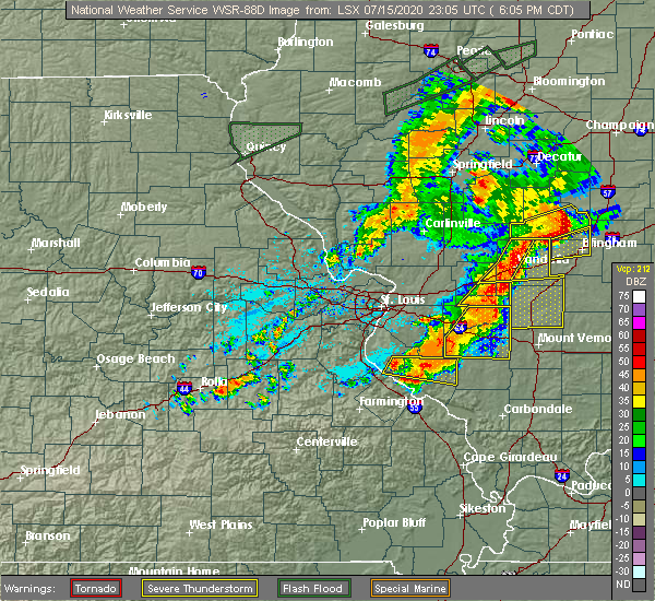 Radar Image for Severe Thunderstorms near Hoyleton, IL at 7/15/2020 6:08 PM CDT
