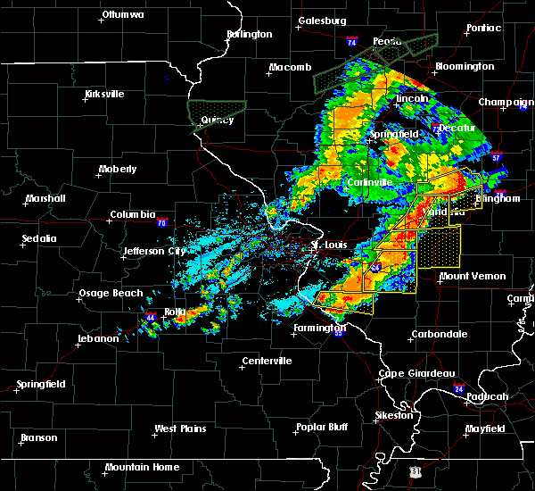 Radar Image for Severe Thunderstorms near Percy, IL at 7/15/2020 6:13 PM CDT