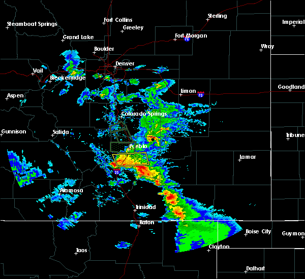 Radar Image for Severe Thunderstorms near Pueblo, CO at 7/15/2020 5:17 PM MDT