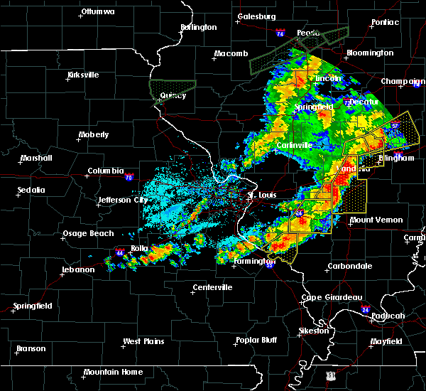 Radar Image for Severe Thunderstorms near Hoyleton, IL at 7/15/2020 6:29 PM CDT