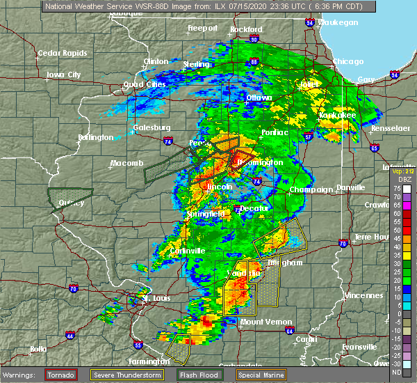 Radar Image for Severe Thunderstorms near Charleston, IL at 7/15/2020 6:42 PM CDT