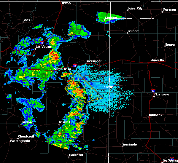 Radar Image for Severe Thunderstorms near Floyd, NM at 7/15/2020 5:50 PM MDT
