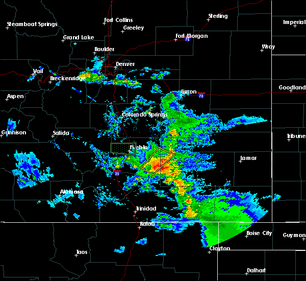 Radar Image for Severe Thunderstorms near North La Junta, CO at 7/15/2020 6:01 PM MDT