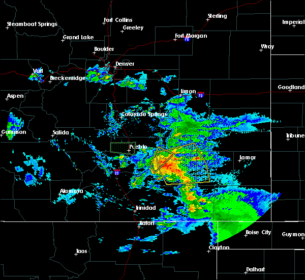 Radar Image for Severe Thunderstorms near North La Junta, CO at 7/15/2020 6:17 PM MDT