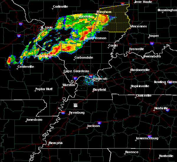 Radar Image for Severe Thunderstorms near Tamaroa, IL at 7/15/2020 7:22 PM CDT