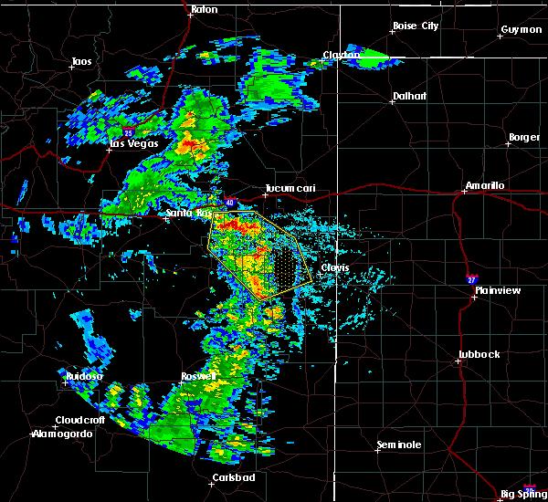Radar Image for Severe Thunderstorms near Floyd, NM at 7/15/2020 6:26 PM MDT