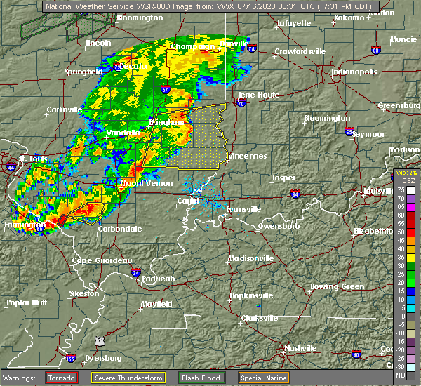 Radar Image for Severe Thunderstorms near Bridgeport, IL at 7/15/2020 7:39 PM CDT