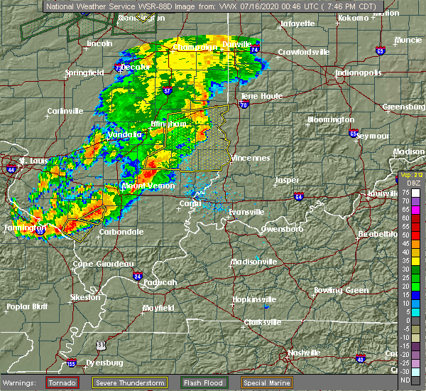 Radar Image for Severe Thunderstorms near Bridgeport, IL at 7/15/2020 7:53 PM CDT