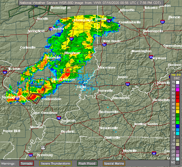 Radar Image for Severe Thunderstorms near Claremont, IL at 7/15/2020 8:04 PM CDT