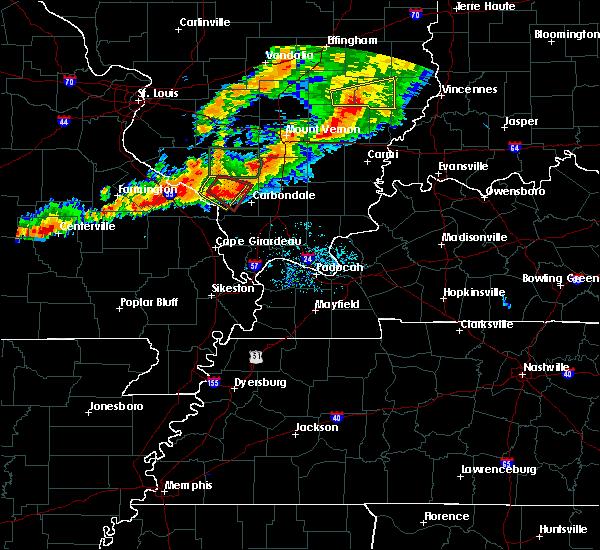 Radar Image for Severe Thunderstorms near Murphysboro, IL at 7/15/2020 8:19 PM CDT