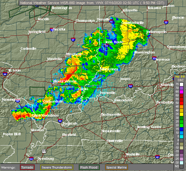 Radar Image for Severe Thunderstorms near Noble, IL at 7/15/2020 9:57 PM CDT
