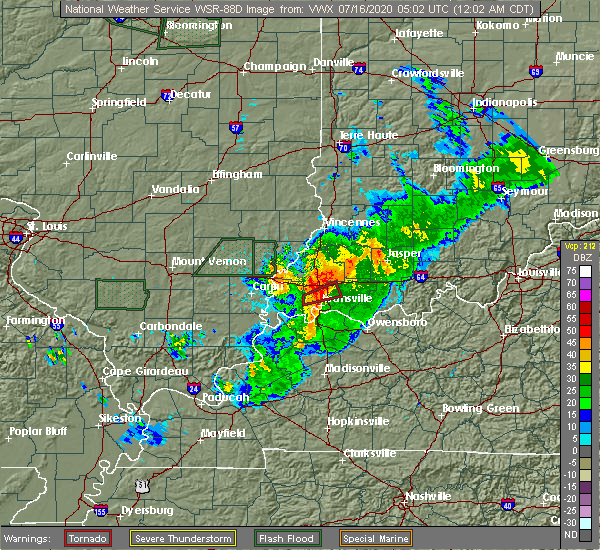Radar Image for Severe Thunderstorms near Highland, IN at 7/16/2020 12:06 AM CDT