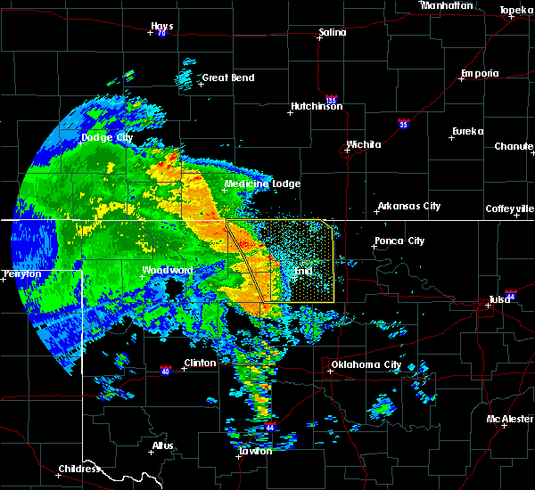 Radar Image for Severe Thunderstorms near Fairmont, OK at 7/16/2020 5:26 AM CDT