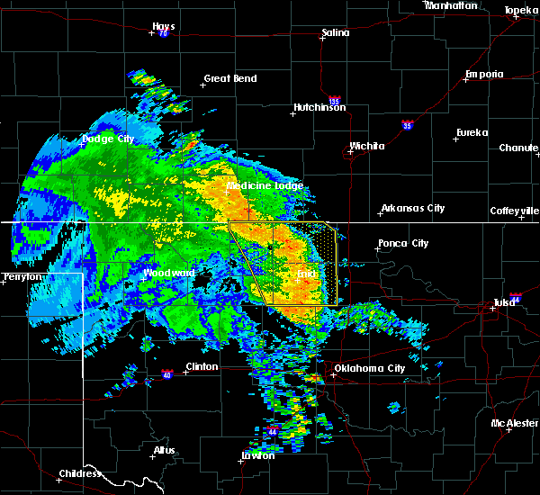 Radar Image for Severe Thunderstorms near Medford, OK at 7/16/2020 6:00 AM CDT
