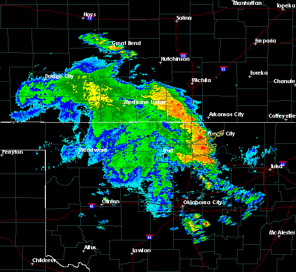 Radar Image for Severe Thunderstorms near Red Rock, OK at 7/16/2020 7:04 AM CDT