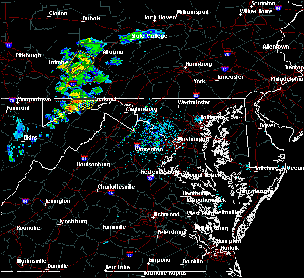 Radar Image for Severe Thunderstorms near Barrelville, MD at 7/16/2020 3:24 PM EDT