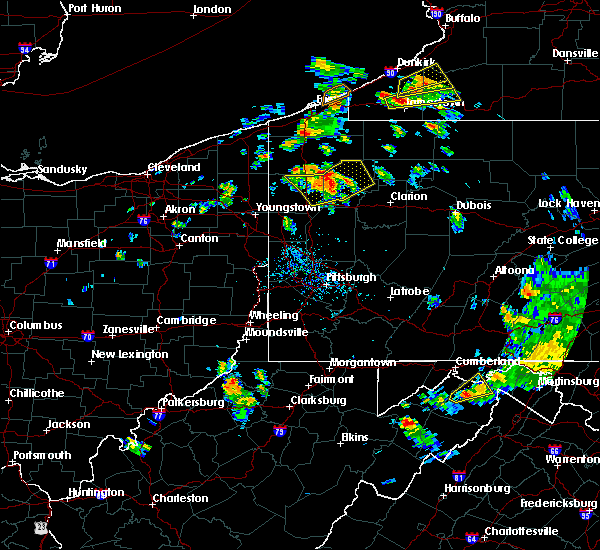 Radar Image for Severe Thunderstorms near Titusville, PA at 7/16/2020 5:47 PM EDT