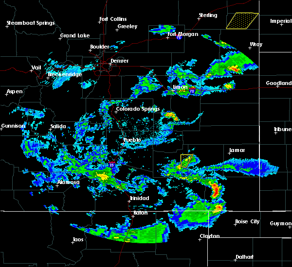 Radar Image for Severe Thunderstorms near North La Junta, CO at 7/16/2020 6:12 PM MDT