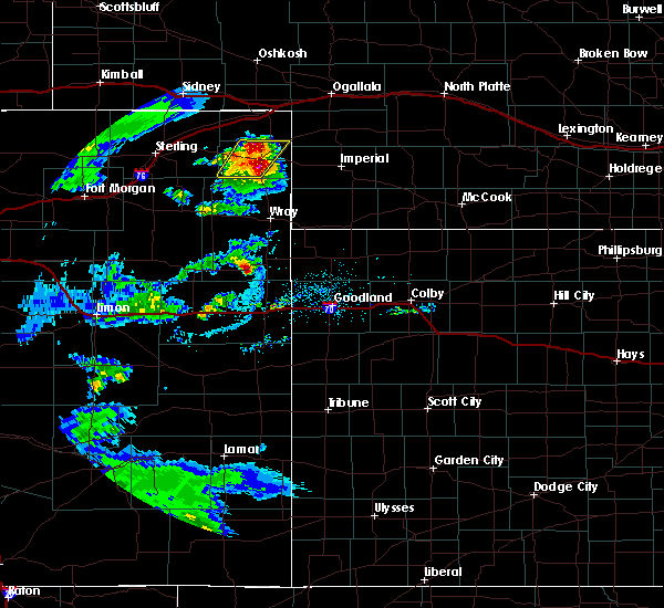 Radar Image for Severe Thunderstorms near Paoli, CO at 7/16/2020 6:31 PM MDT