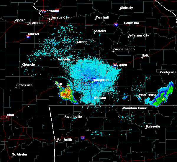 Radar Image for Severe Thunderstorms near Fairview, MO at 7/16/2020 10:36 PM CDT