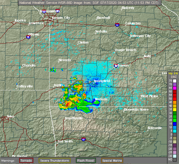 Radar Image for Severe Thunderstorms near Verona, MO at 7/16/2020 11:57 PM CDT