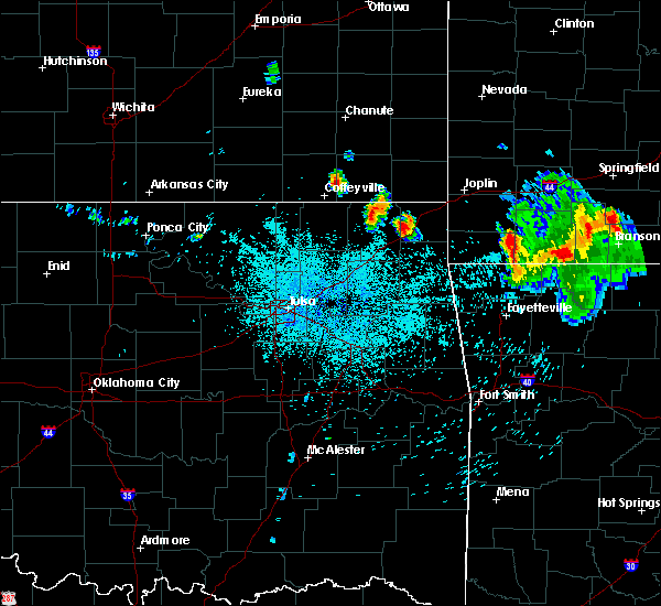 Radar Image for Severe Thunderstorms near Fairland, OK at 7/17/2020 12:56 AM CDT